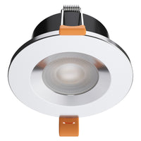 STRATA ONE - CCT LED Fire Rated Downlight IP65 6W Dimmable Slim Polished Chrome Tri-Colour: 3000K 4000K 5000K