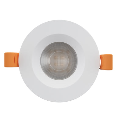 STRATA CCT LED Fire Rated Downlight IP65 6W Dimmable Slim White Tri-Colour: 3000K 4000K 5000K
