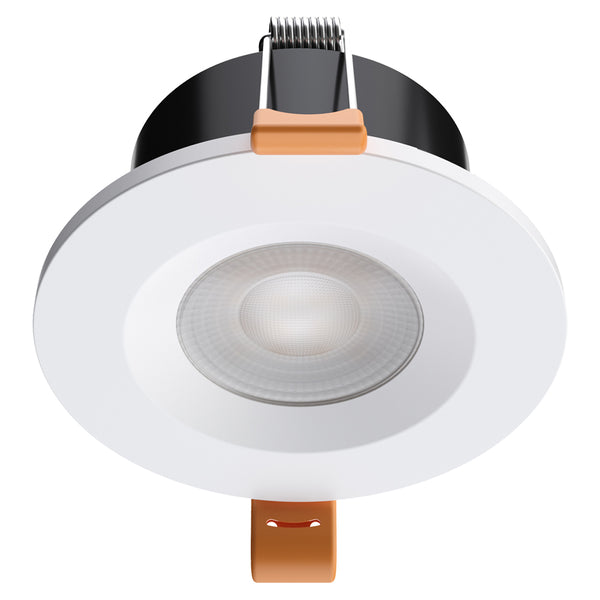 STRATA ONE - CCT LED Fire Rated Downlight IP65 6W Dimmable Slim White Tri-Colour: 3000K 4000K 5000K