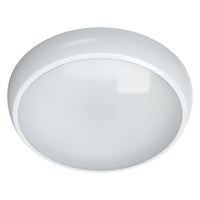 EUSTON 14W LED Emergency Maintained / Non Maintained Round Dome Bulkhead Light 3HR White IP65
