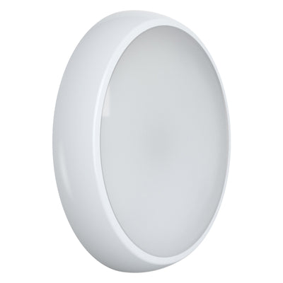 EUSTON 14W LED Emergency Maintained / Non Maintained Round Corridor Bulkhead Light 3HR White IP54