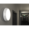 EUSTON 14W LED Standard Round Dome Bulkhead Light Chrome IP54 Commercial Bathroom Utility Wall Ceiling