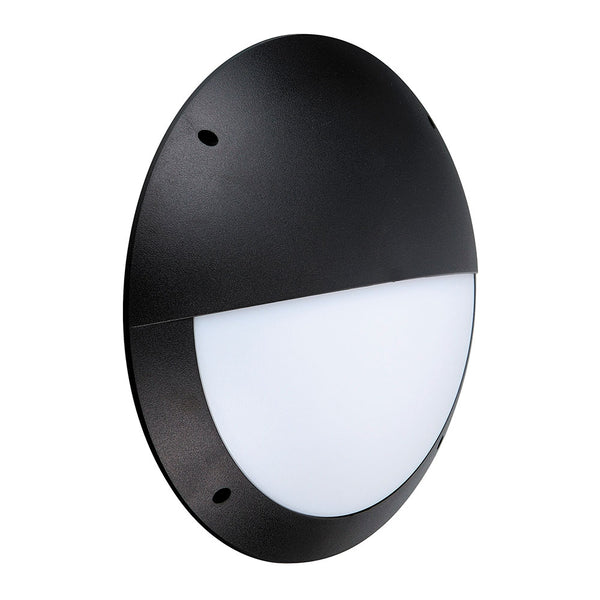 CAMDEN LED Outdoor Eyelid Bulkhead IP66 Light Wall Round Black
