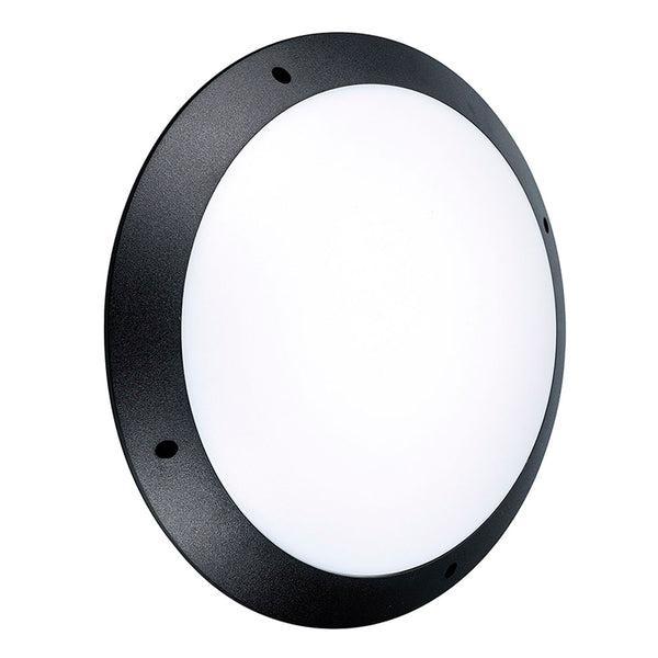 CAMDEN LED Outdoor Bulkhead IP66 Light Wall Ceiling Round Black