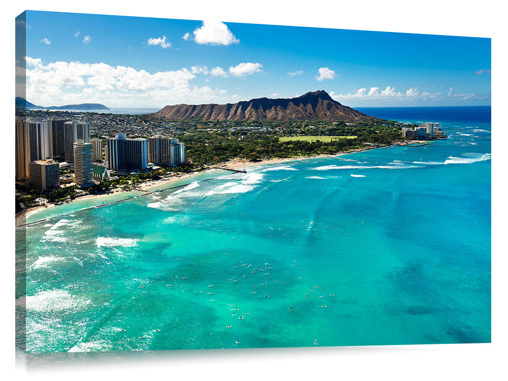 Ariel view of waikiki and Diamond Head