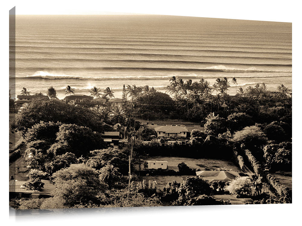 overview of Sunset Beach, from Comsat Hill, north shore, Oahu