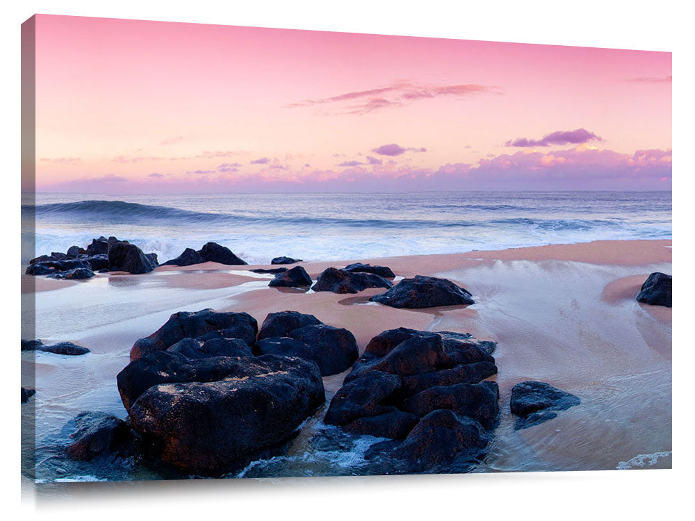 sunrise on the north shore of Oahu.