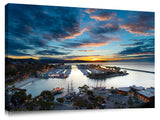 Early morning twilight over Dana Point Marina, in Southern California.