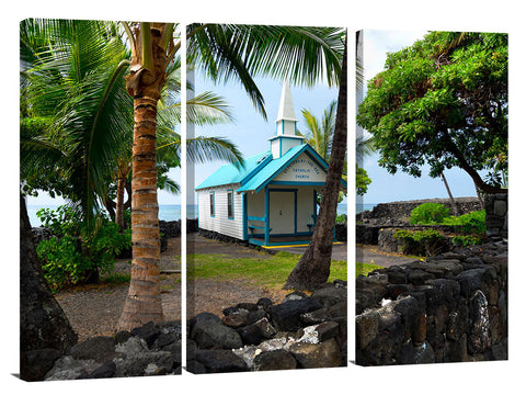 Panoramic view of St Peters church in Kailua Kona, on the Big Island of Hawaii.
