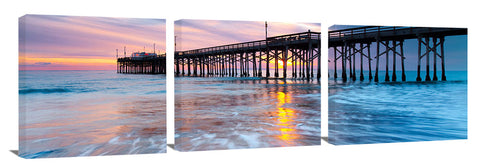 Balboa Pier during sunset