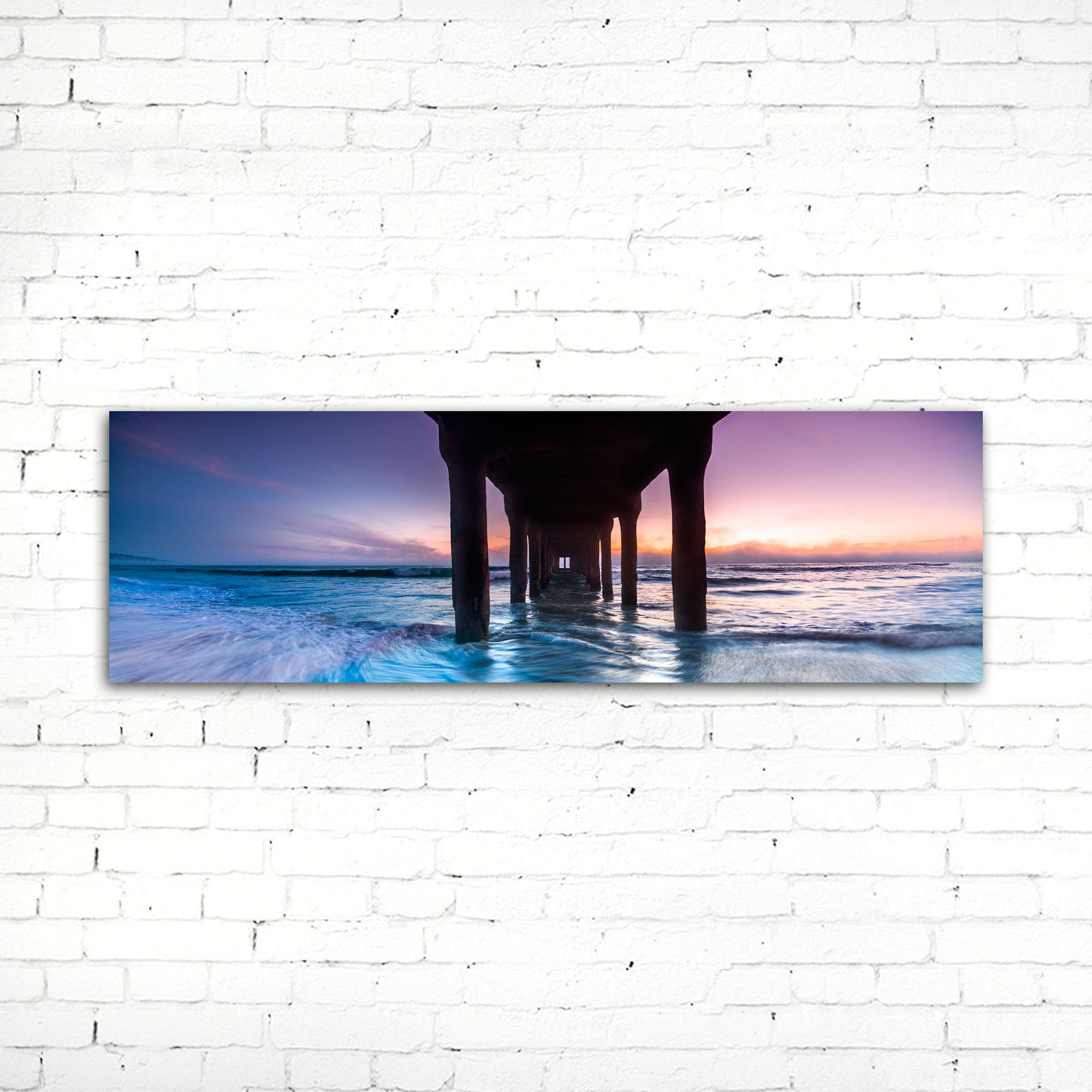 75% OFF Manhattan Beach Pier Photographic Canvas Print
