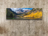 Maroon Bells, Ready-to-Hang Photographic Print On Canvas