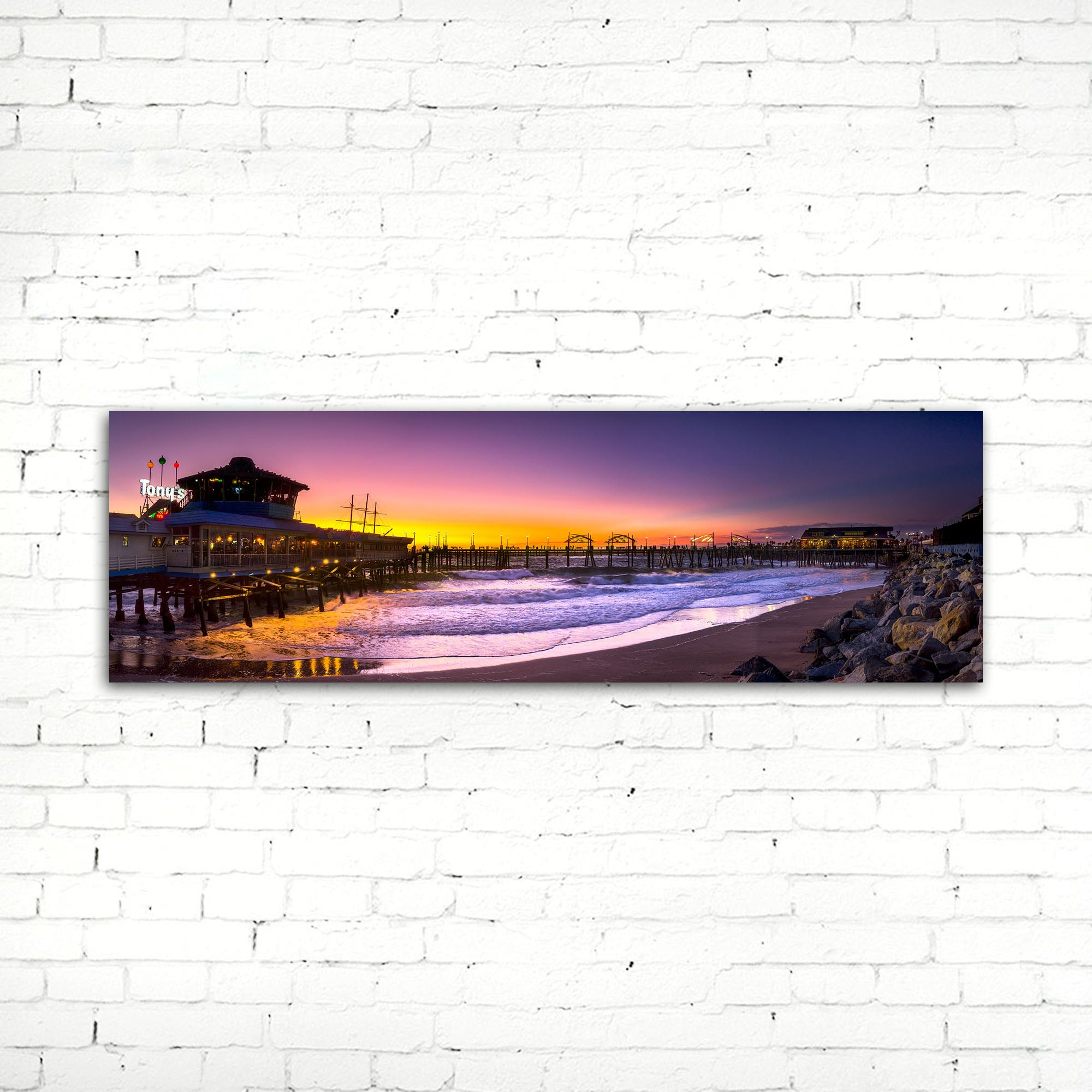 75% OFF Redondo Beach Pier Photographic Canvas Print