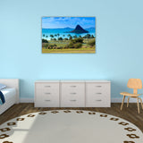 CHINAMANS HAT BLUE, Ready-to-Hang Photographic Print On Canvas