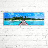 OCEAN WALKWAY, Ready-to-Hang Photographic Print On Canvas