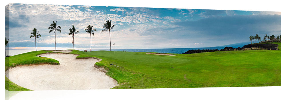 The 12th hole on the Kings golf course at Waikaloa, on the Big Island of Hawaii.