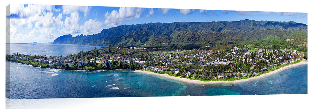 Ariel view of Laie, on the north east coast of Oahu.