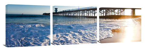 Seal Beach canvas wall print