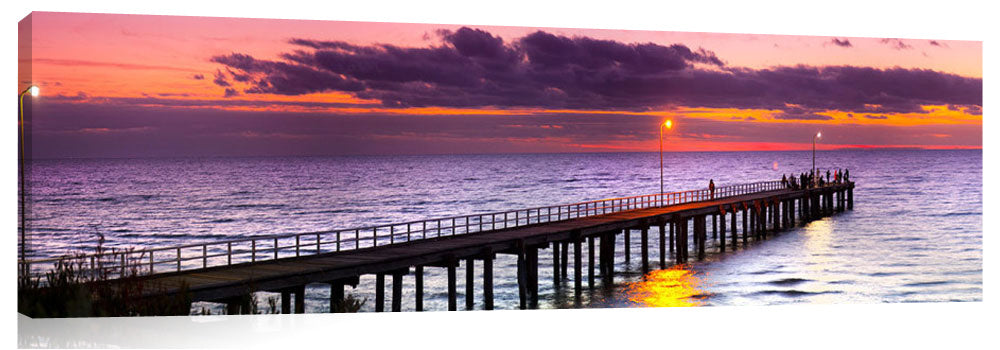 Seaforth Pier in Melbourne, at Sunset.