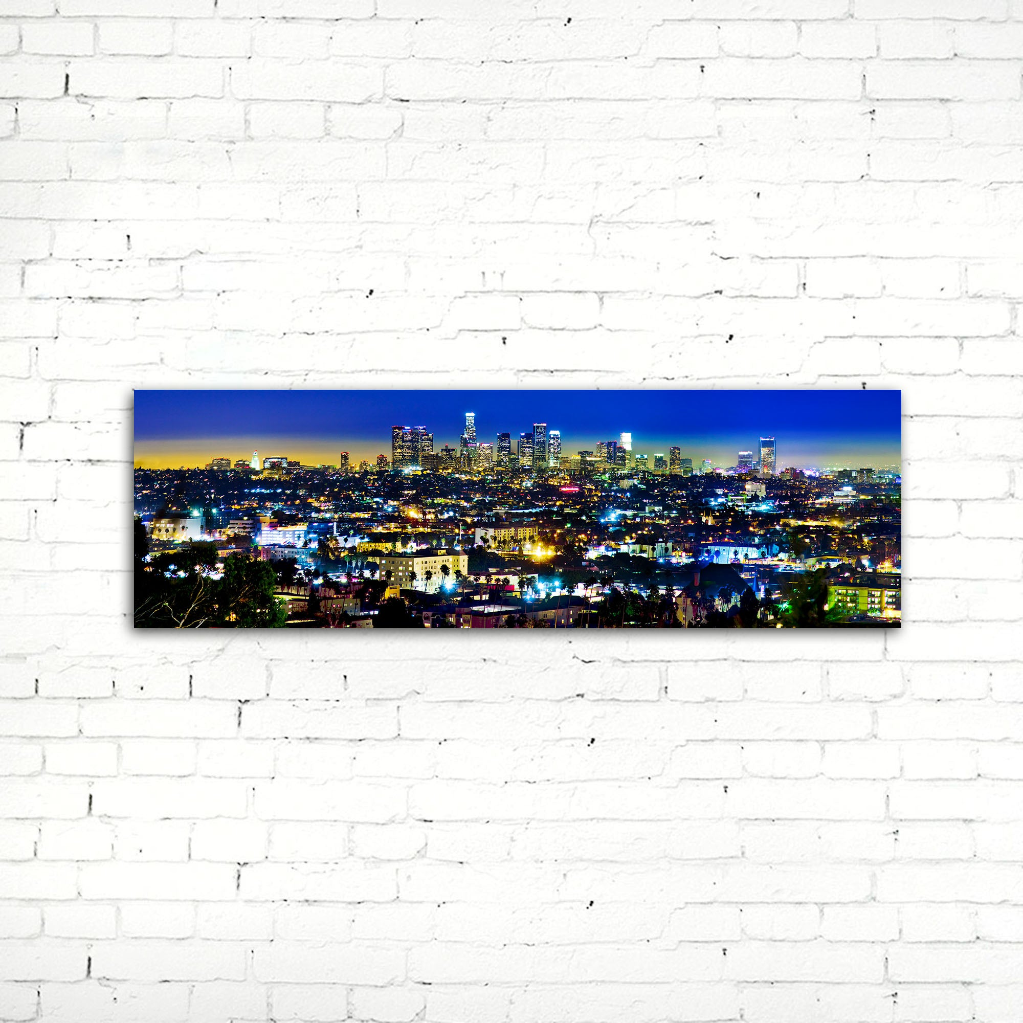75% OFF Los Angeles at Night Photographic Canvas Print
