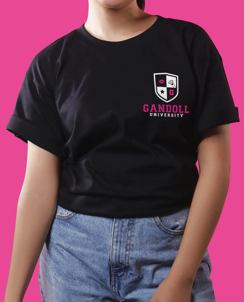 Gandoll University Side Emblem Shirt - Black