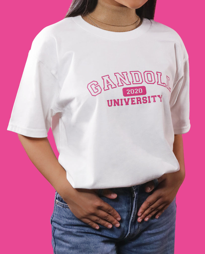 Gandoll University Center Logo Shirt - White