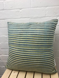 Cushion cover with exclusive design handspun & hand woven cotton 'Candy Stripes'