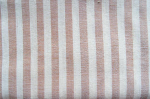 Handmade Natural Dyed 100% Cotton: Stripe Pattern. Thinner Yarn in Pastel Pink and White. Handwoven