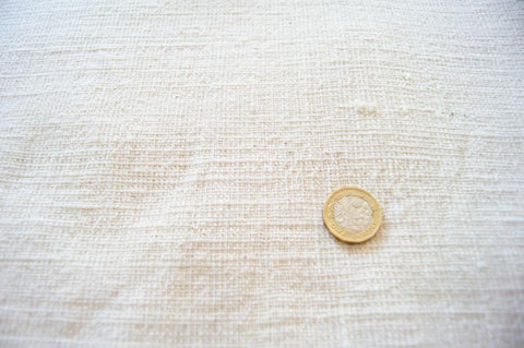 Handmade Natural Dyed 100% Cotton: Off-white Undyed Cotton. Handspun & Handwoven