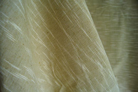 Handmade Natural Dyed 100% Cotton: The Rain Pattern. Thinner Yarn in Pastel Green and White. Handwoven