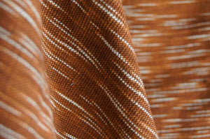 Handmade Natural Dyed 100% Cotton: The Rain Pattern. Thinner Yarn in Dark Brown and White. Handwoven