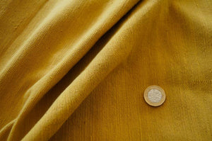 Handmade Natural Dyed 100% Cotton: Thinner Yarn in Mustard Yellow. Handwoven