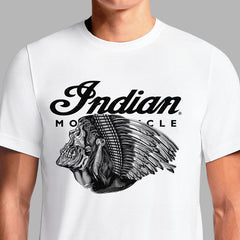 Buy Indian Motorcycle T Shirt Apparel Women's Shirts Online For Sale Brand Vintage Scout Logo White T-Shirts Old Chief Original Retro 1947 India Clothing Shop