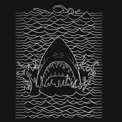 Jaws Minimal T-Shirts India Funny Quotes T Shirts Online Shopping Graphic Funky Printed Cool Tees For Mens Slogan Womens Cheap Clothing Casual Wear Round Neck