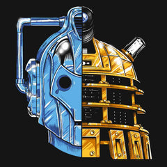 Daft Punk Dr Who Daleks vs Cybermen vsT-Shirts India Funny Quotes T Shirts Online Shopping Graphic Funky Printed Cool Tees For Mens Clothing Casual Round Neck