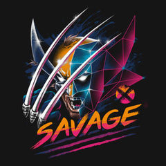 Wolverine Logan Savage T-Shirts India Funny Quotes T Shirts Online Shopping Graphic Funky Printed Cool Tees For Mens Slogan Womens Clothing Casual Round Neck
