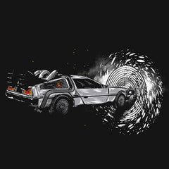 Back To The Future Time Machine Deloren T-Shirts India Funny Quotes T Shirts Online Shopping Graphic Funky Printed Cool Tees For Mens Clothing Casual Round Neck