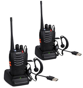 ecf1f027fa0 ESYNIC 4 Pack Rechargeable Walkie Talkies Long Range Two Way Radio UHF 400- 470MHz Walky