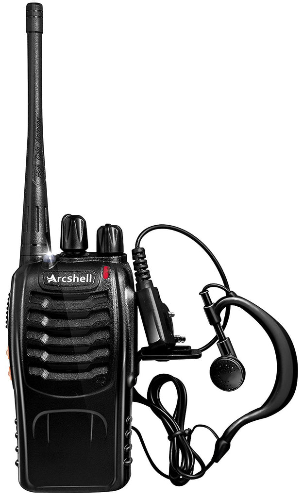 0241e360da7 ... Arcshell Rechargeable Long Range Two-way Radios with Earpiece 2 Pack  UHF 400-470Mhz ...