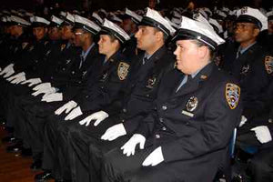 New York Police Department Traffic Enforcement Agents June 12 Graduation ceremony.   Taken in One Police Plaza, New York, New York by NYPD Photo Unit.