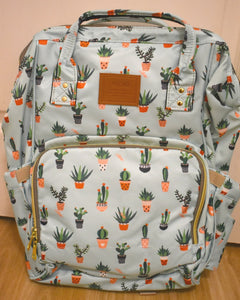 REVIEW: Bucket Zip Backpack Changing Bag - Cactus Print