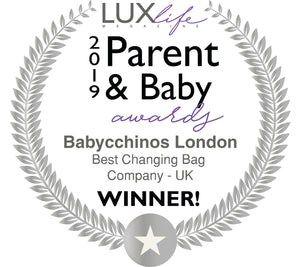 Babycchinos London - Awarded Best Changing Bag Company - UK 2019