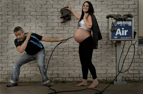 Funny Pregnancy Photo Shoot