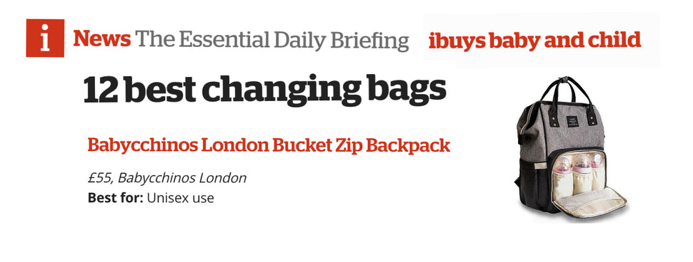 Featured in Best Changing Bags List by inews.co.uk