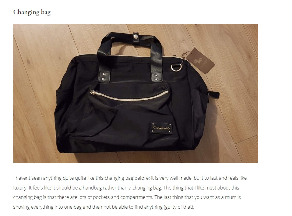 Raw Childhood - Babycchinos Black Duffle Bag Review