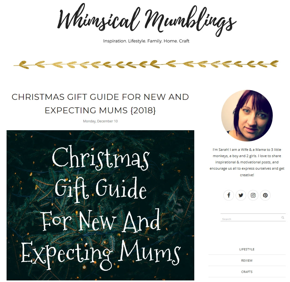 Whimsical Mumblings - Christmas Gift Guide for New and Expecting Parents
