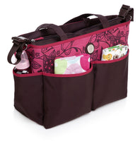 Tote Baby Changing Bag – Raspberry Chocolate