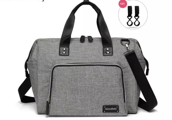 Large Messenger Changing Bag – Grey