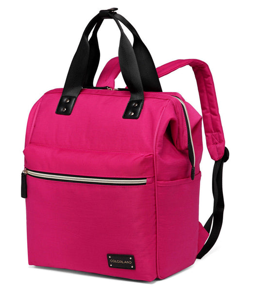 Large Backpack Changing Bag – Pink