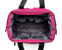 Large Bucket Zip Backpack Changing Bag – Pink
